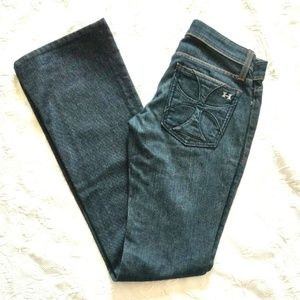 HABITUAL Maltese Cross Dark Blue Denim Jeans Sz 25